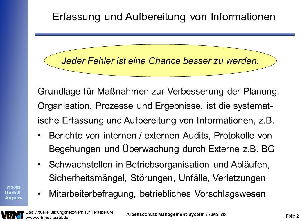 Erfassung und Aufbereitung von Informationen