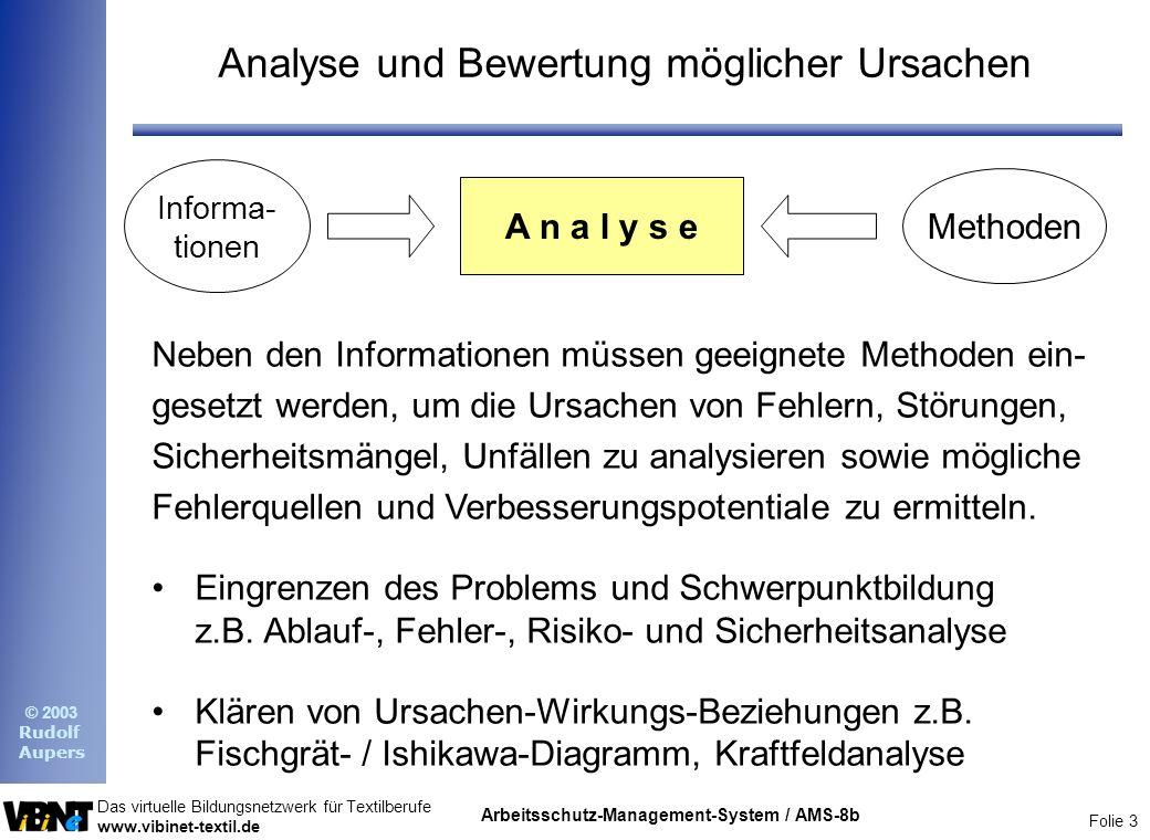 Analyse und Bewertung möglicher Ursachen