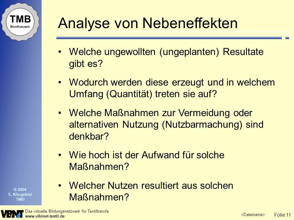 Analyse von Nebeneffekten
