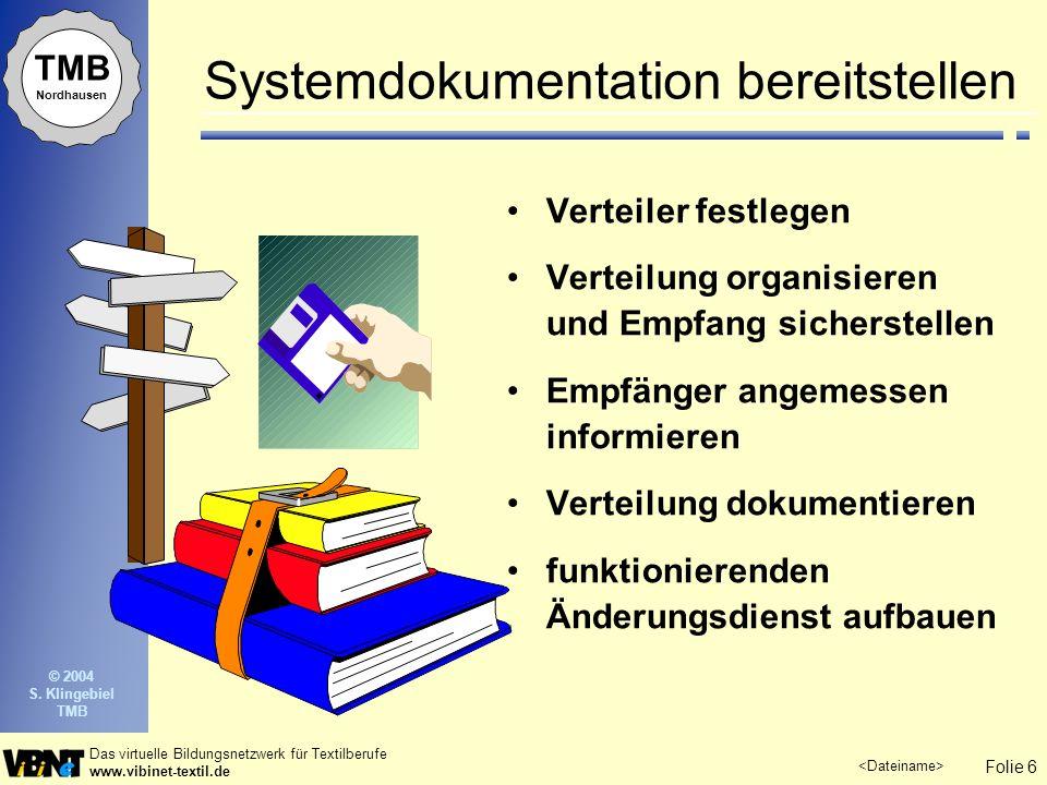 Systemdokumentation bereitstellen