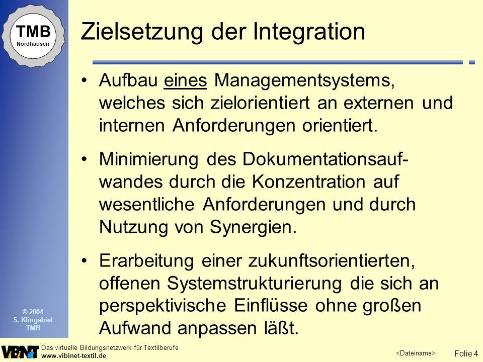 Zielsetzung der Integration