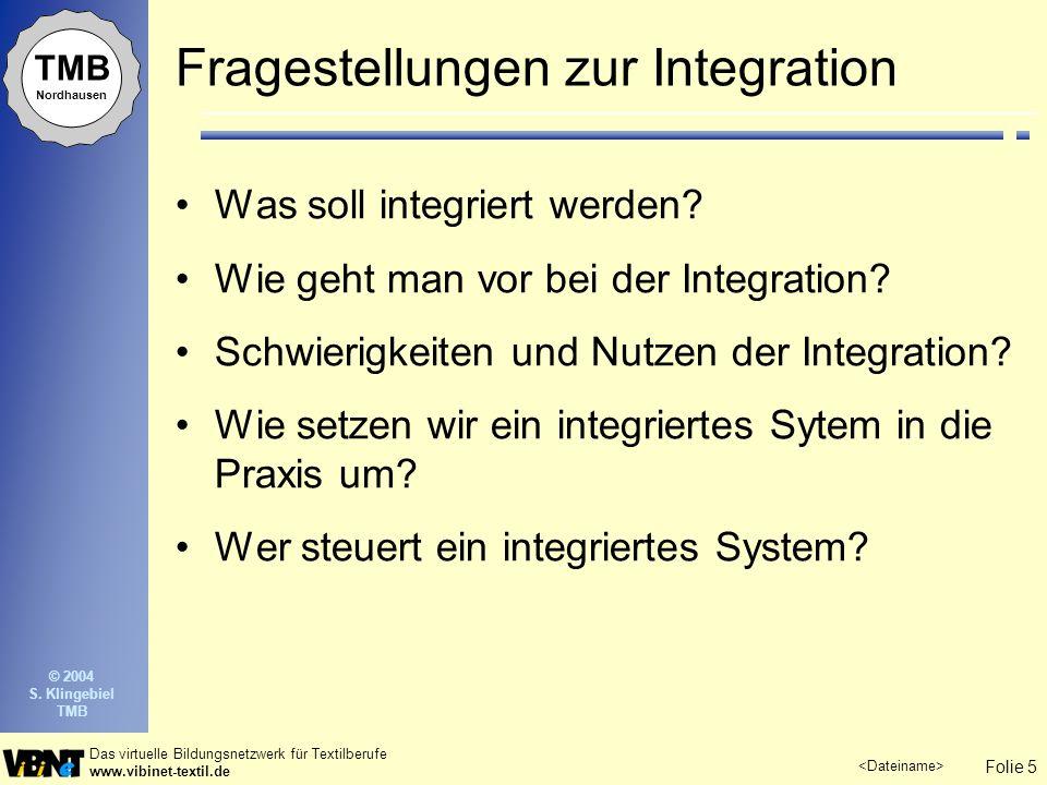 Fragestellungen zur Integration