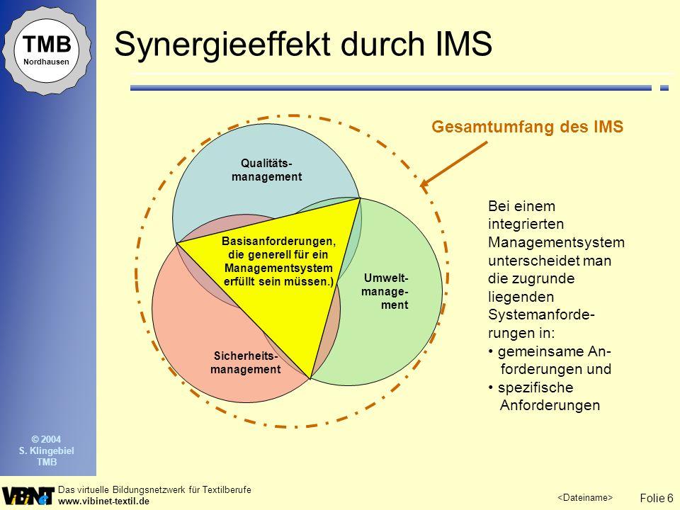 Synergieeffekt durch IMS