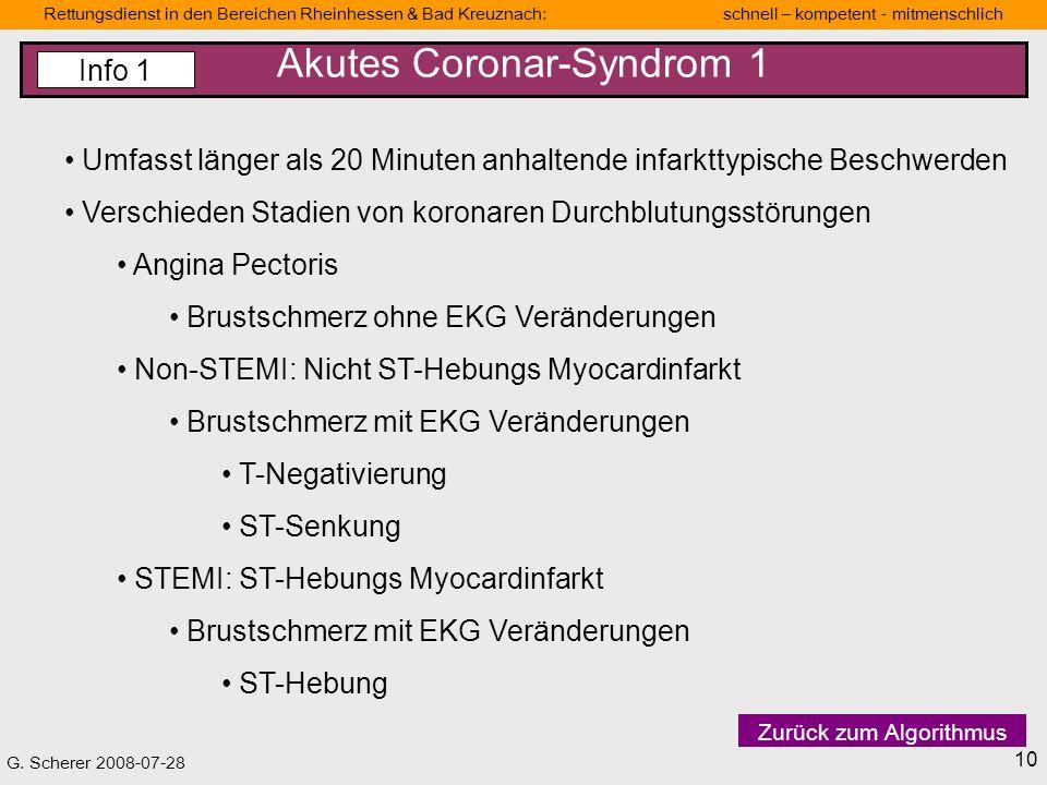 Akutes Coronar-Syndrom 1