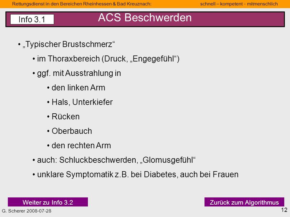 """ACS Beschwerden Info 3.1 """"Typischer Brustschmerz"""