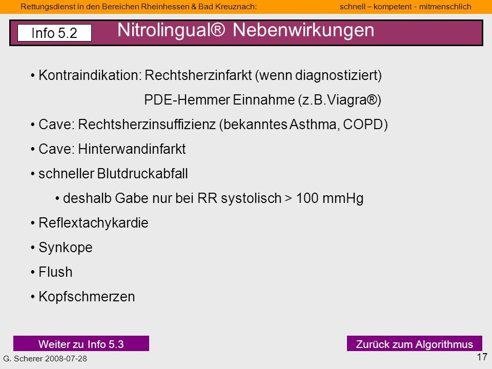 Nitrolingual® Nebenwirkungen