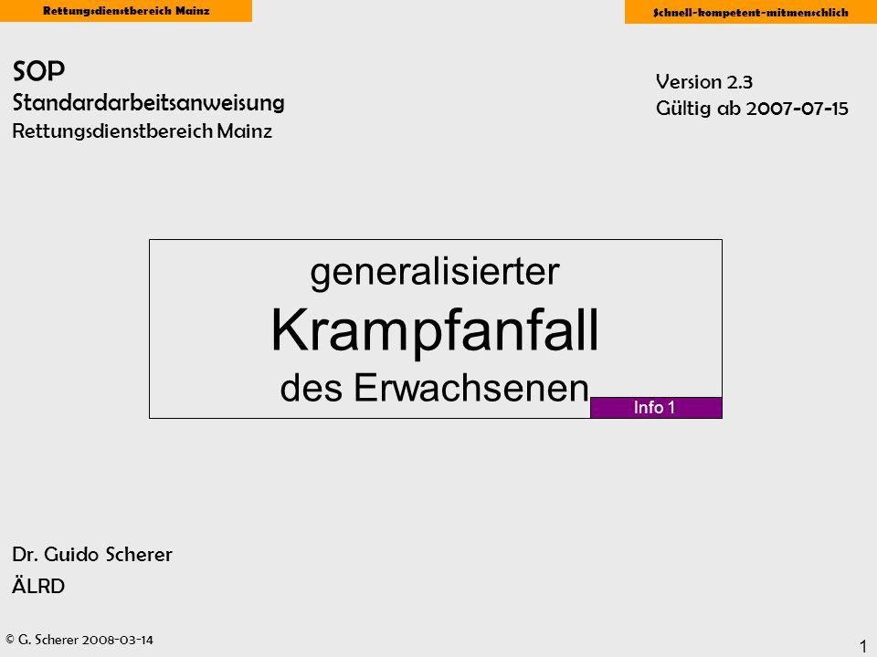 SOP Standardarbeitsanweisung Rettungsdienstbereich Mainz