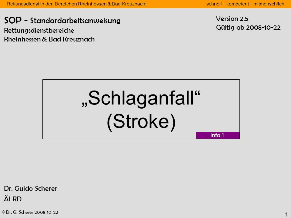 """""""Schlaganfall (Stroke)"""
