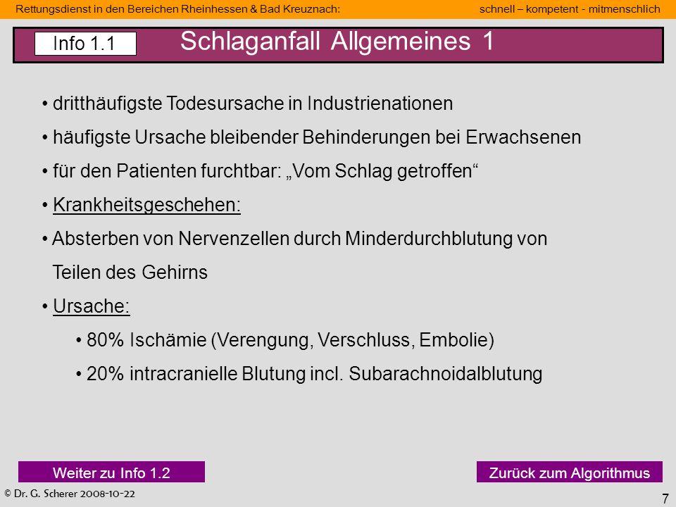 Schlaganfall Allgemeines 1