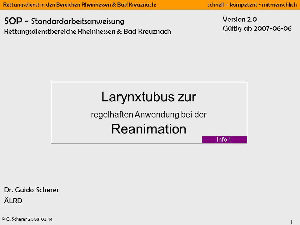 Larynxtubus zur regelhaften Anwendung bei der Reanimation