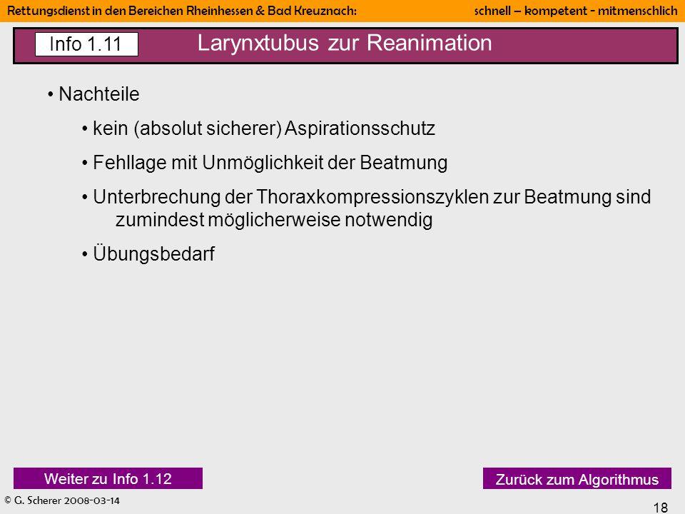 Larynxtubus zur Reanimation