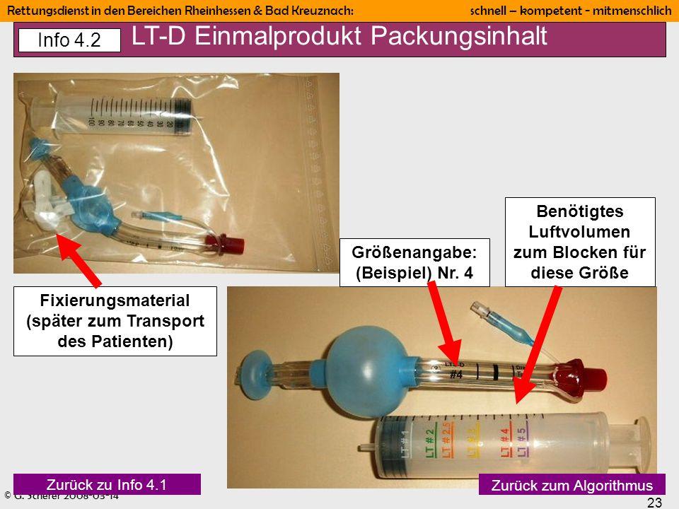 LT-D Einmalprodukt Packungsinhalt