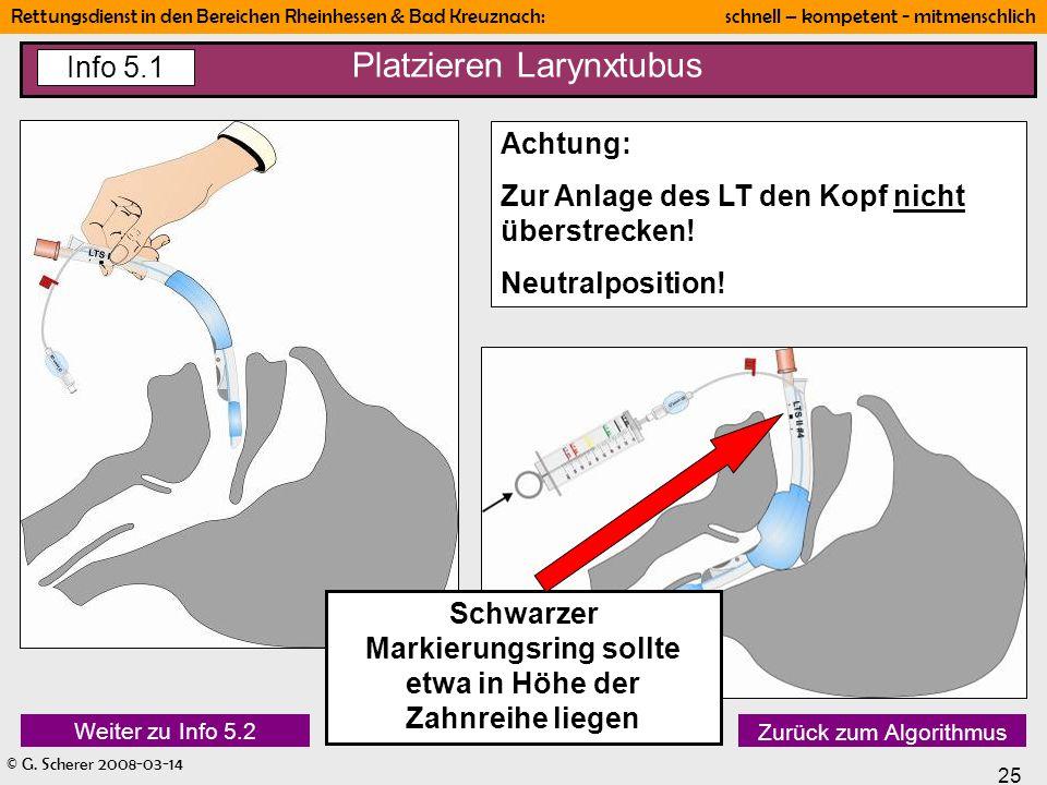 Platzieren Larynxtubus