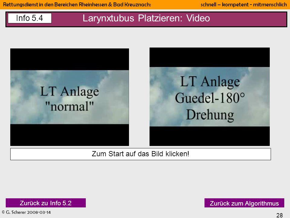 Larynxtubus Platzieren: Video