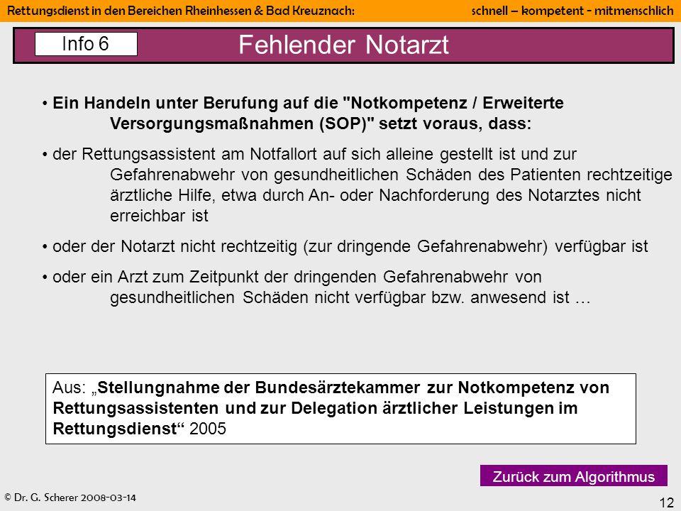 Fehlender Notarzt Info 6