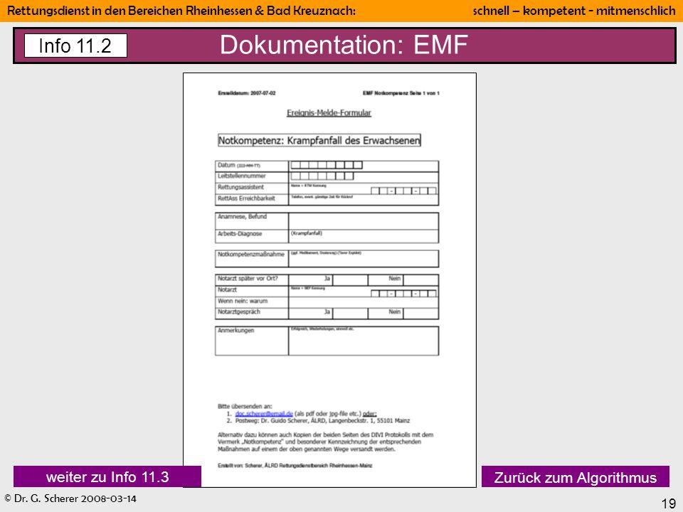 Dokumentation: EMF Info 11.2 weiter zu Info 11.3