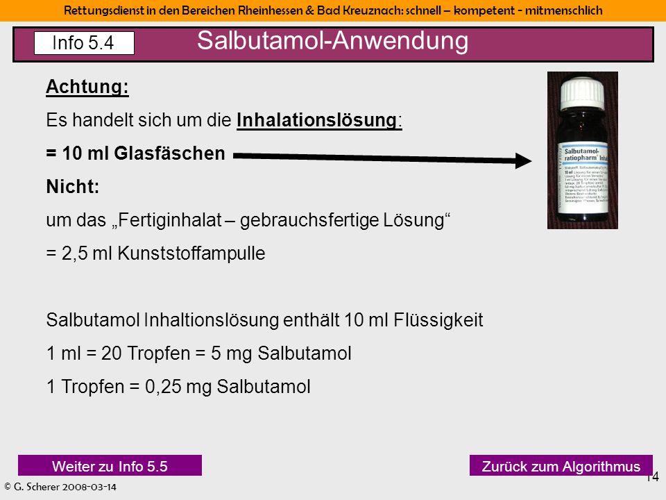 Salbutamol-Anwendung