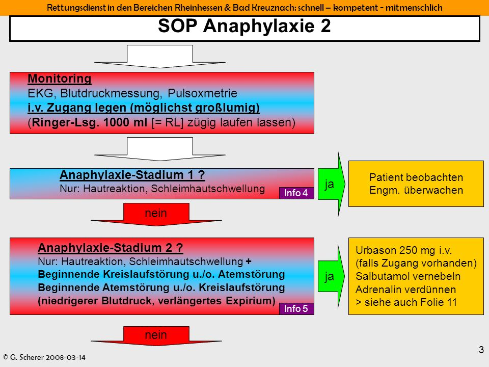 SOP Anaphylaxie 2 Monitoring EKG, Blutdruckmessung, Pulsoxmetrie