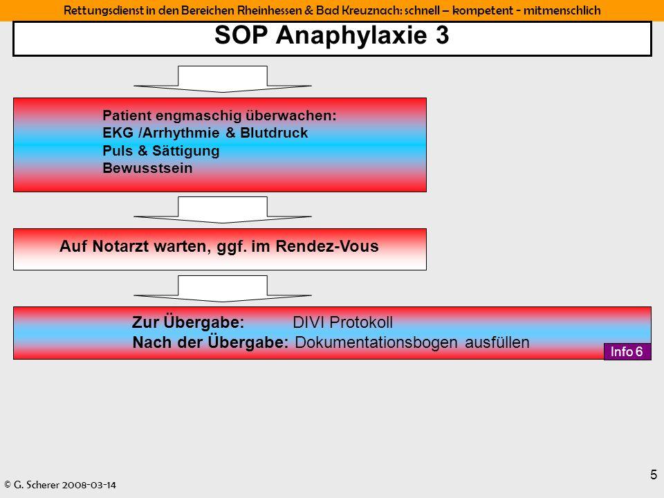 SOP Anaphylaxie 3 Auf Notarzt warten, ggf. im Rendez-Vous
