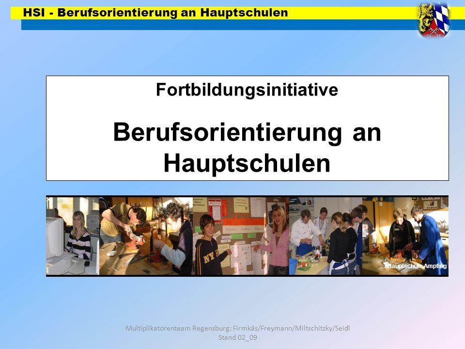 Fortbildungsinitiative Berufsorientierung an Hauptschulen