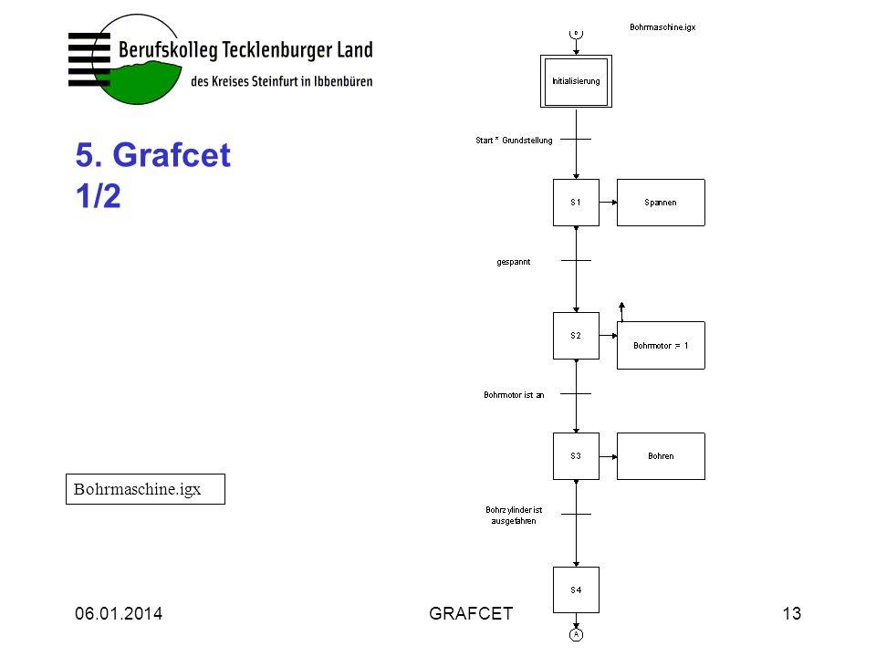 5. Grafcet 1/2 Bohrmaschine.igx 25.03.2017 GRAFCET 25.03.2017