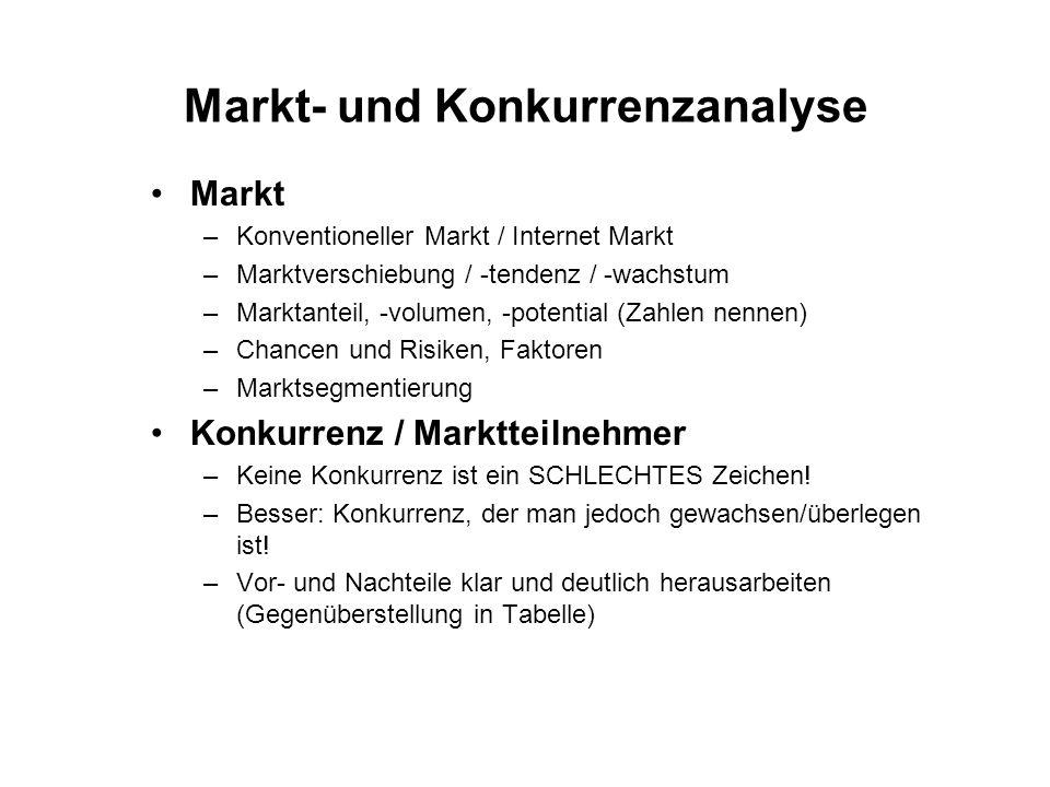 Markt- und Konkurrenzanalyse