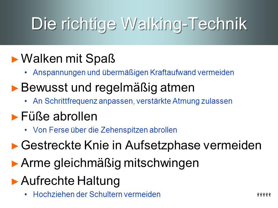 Die richtige Walking-Technik