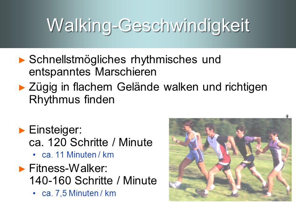 Walking-Geschwindigkeit