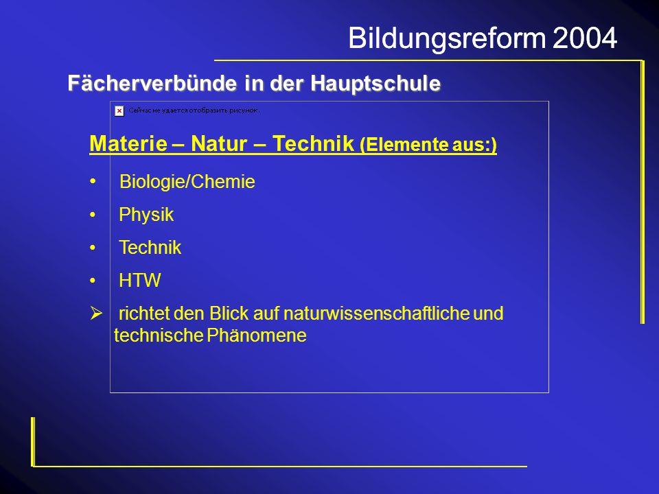 Bildungsreform 2004 Bildungsreform 2004