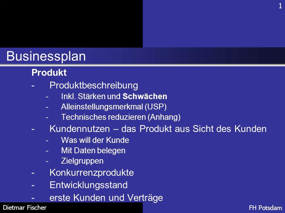 Businessplan Produkt Produktbeschreibung