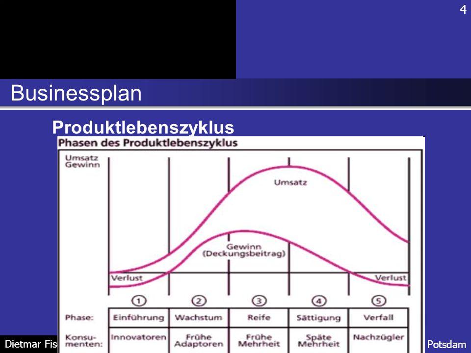 4 Businessplan Produktlebenszyklus Dietmar Fischer FH Potsdam