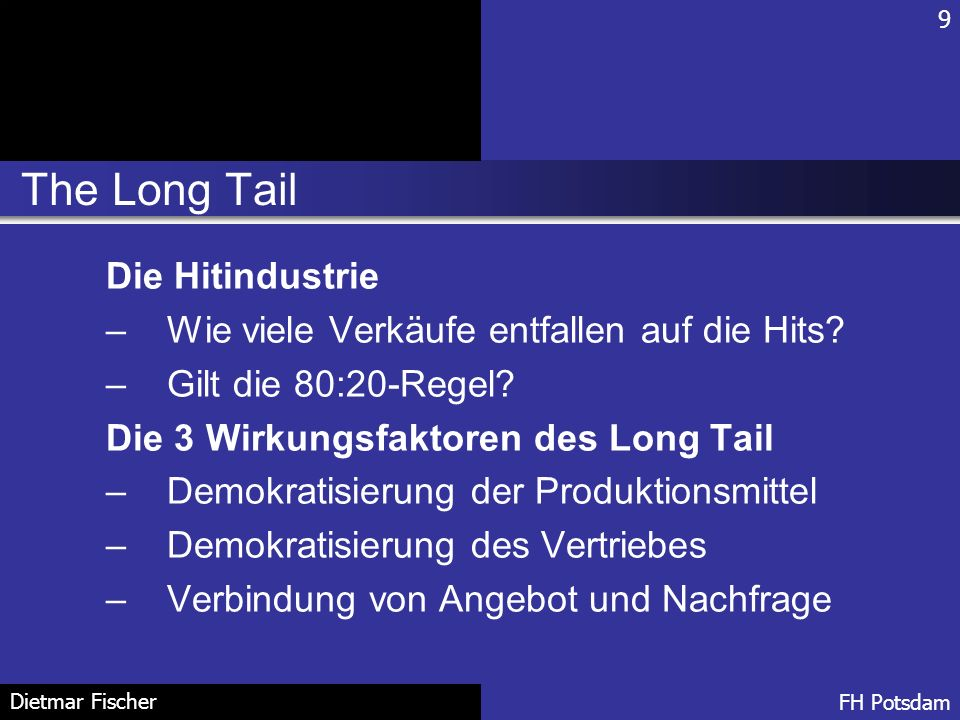 The Long Tail Die Hitindustrie