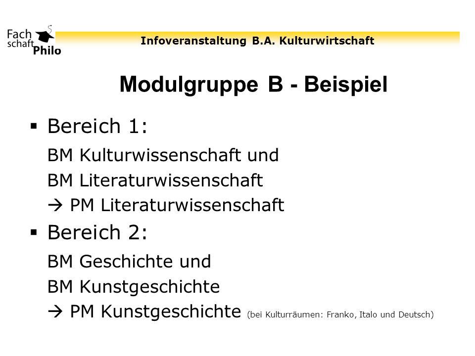 Modulgruppe B - Beispiel