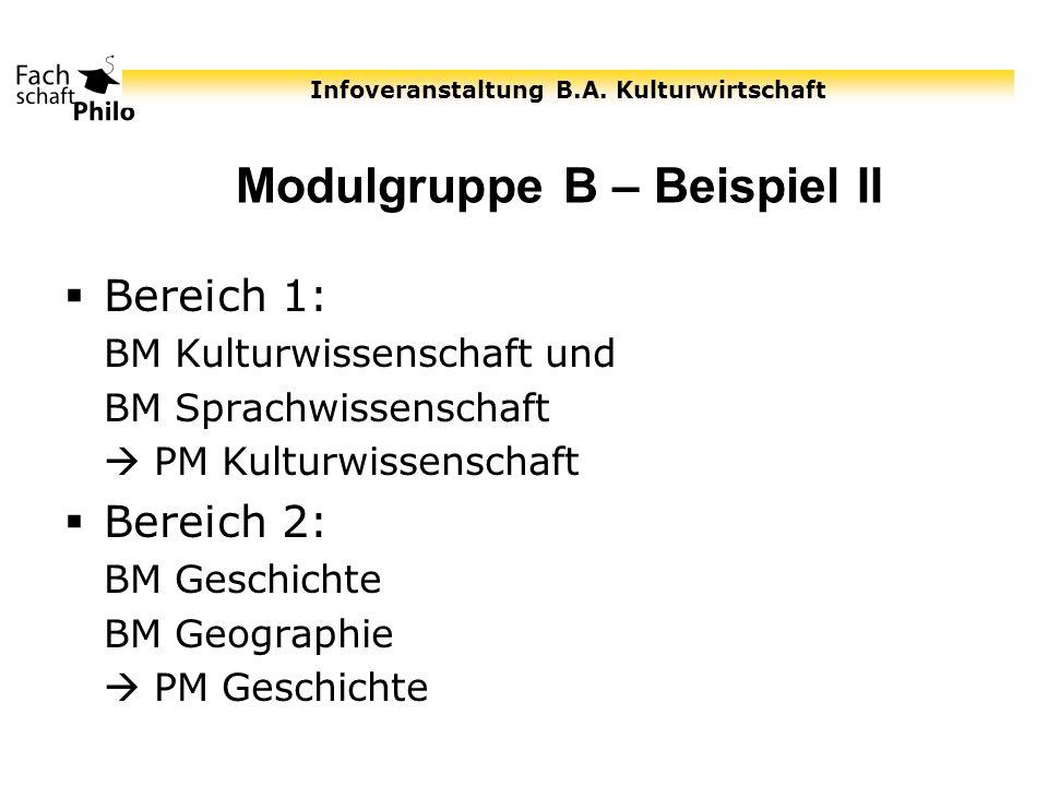 Modulgruppe B – Beispiel II