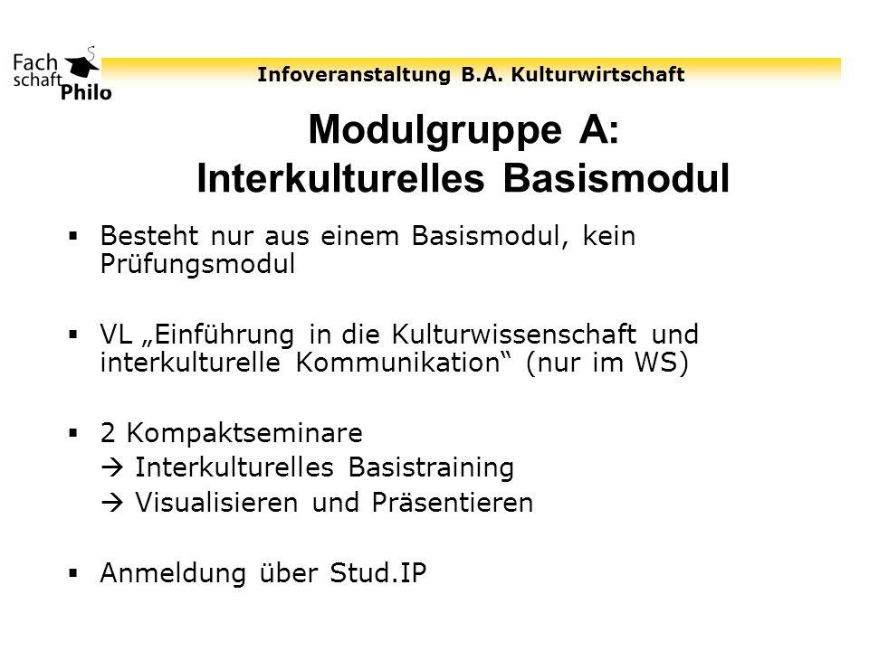 Modulgruppe A: Interkulturelles Basismodul