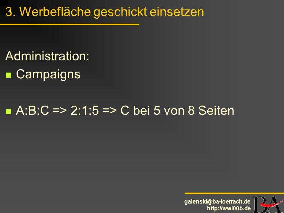 3. Werbefläche geschickt einsetzen