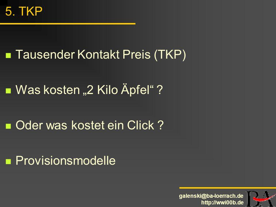 """5. TKP Tausender Kontakt Preis (TKP) Was kosten """"2 Kilo Äpfel ."""