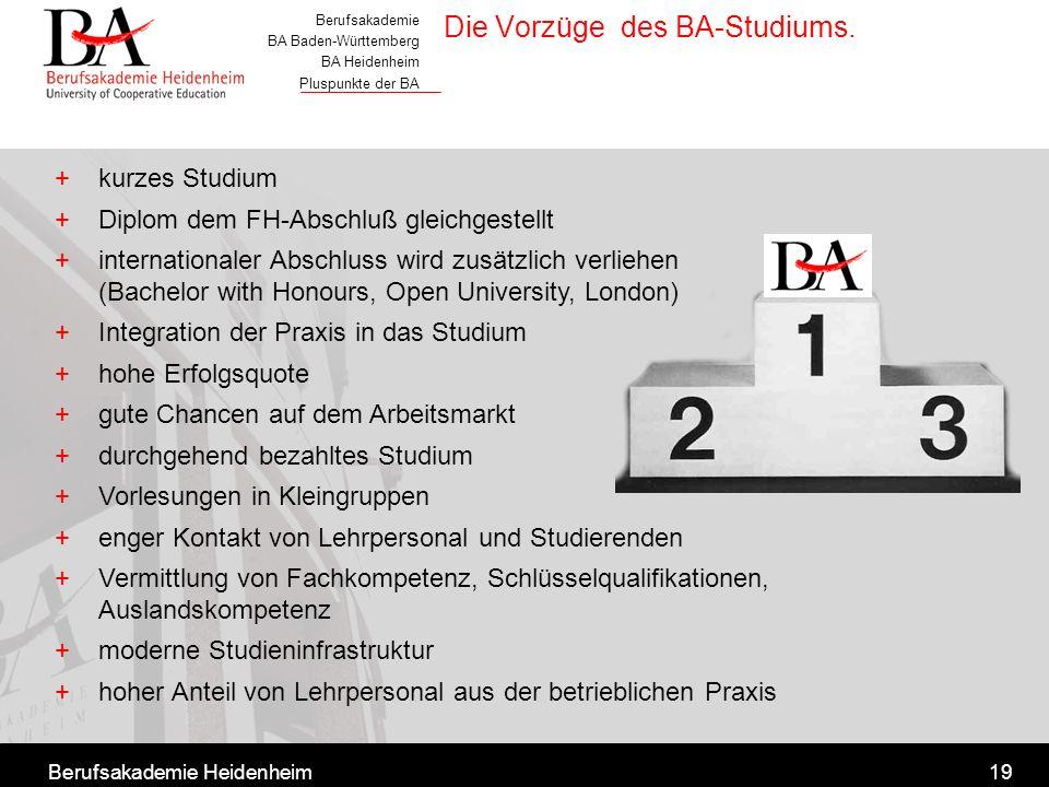 Die Vorzüge des BA-Studiums.