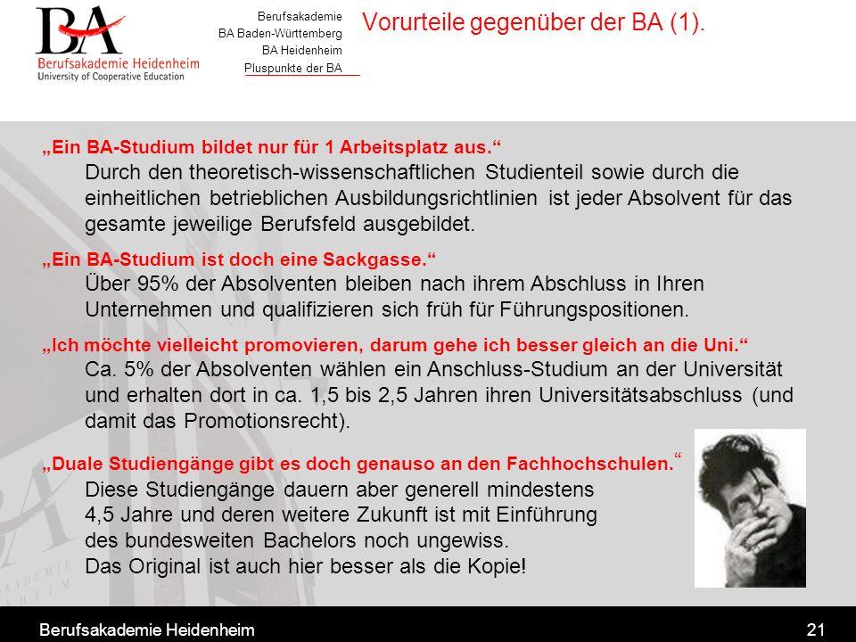 Vorurteile gegenüber der BA (1).