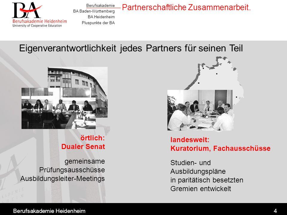 Partnerschaftliche Zusammenarbeit.