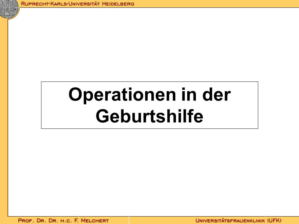 Operationen in der Geburtshilfe