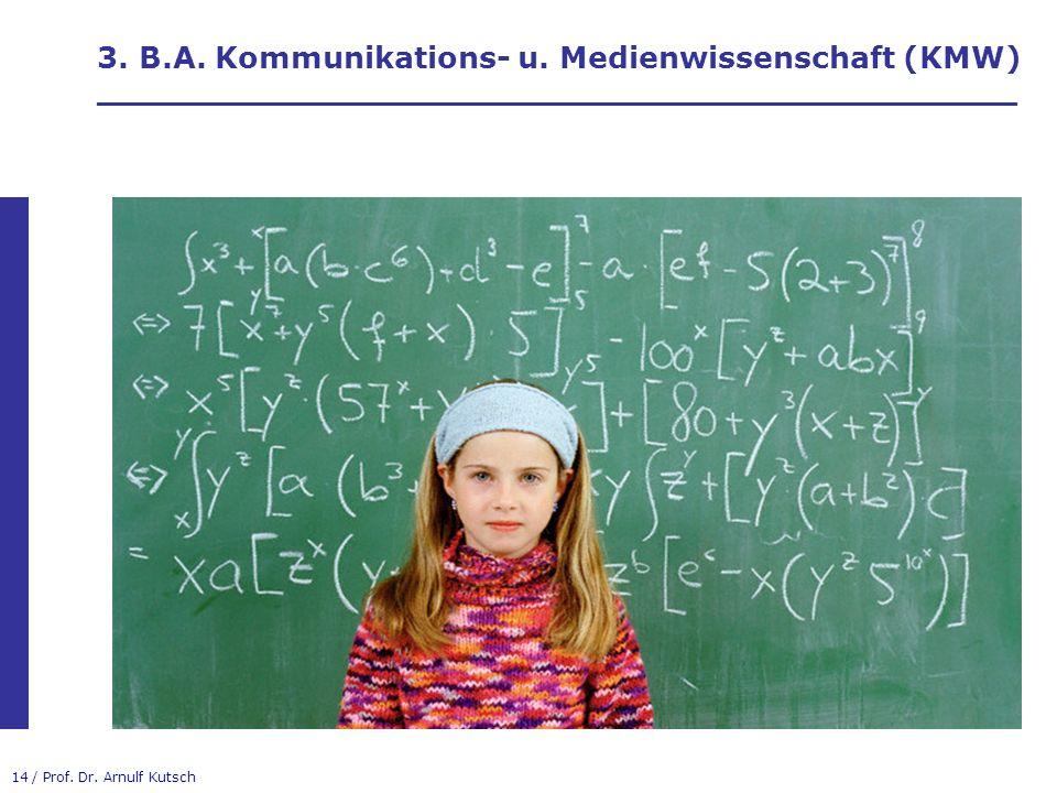 3. B.A. Kommunikations- u. Medienwissenschaft (KMW) ____________________________________________