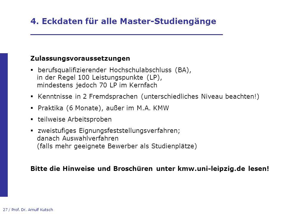 4. Eckdaten für alle Master-Studiengänge __________________________________