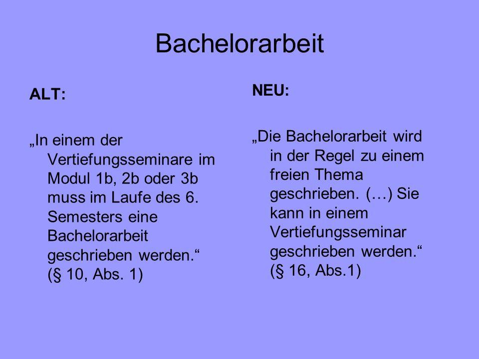 Bachelorarbeit NEU: ALT: