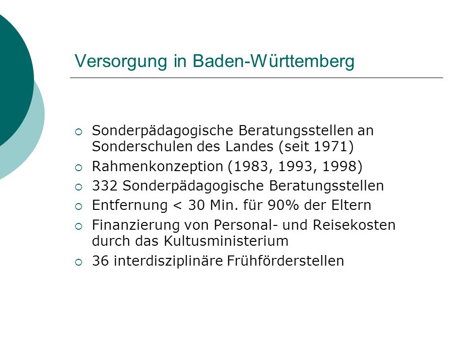 Versorgung in Baden-Württemberg