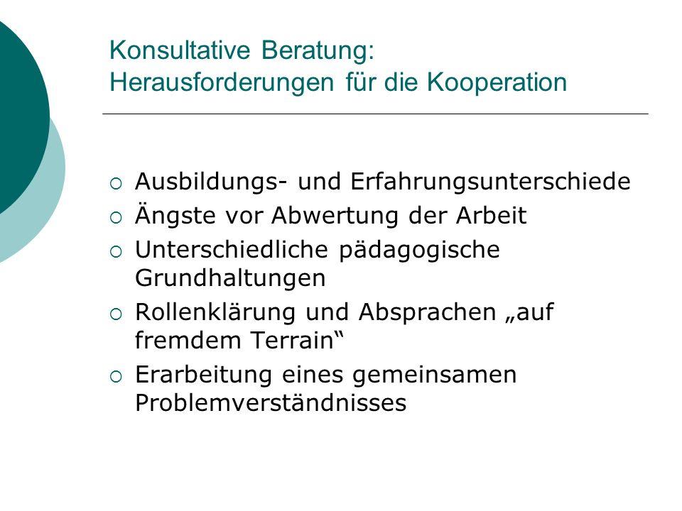Konsultative Beratung: Herausforderungen für die Kooperation