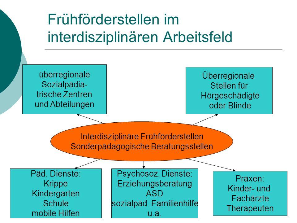 Frühförderstellen im interdisziplinären Arbeitsfeld