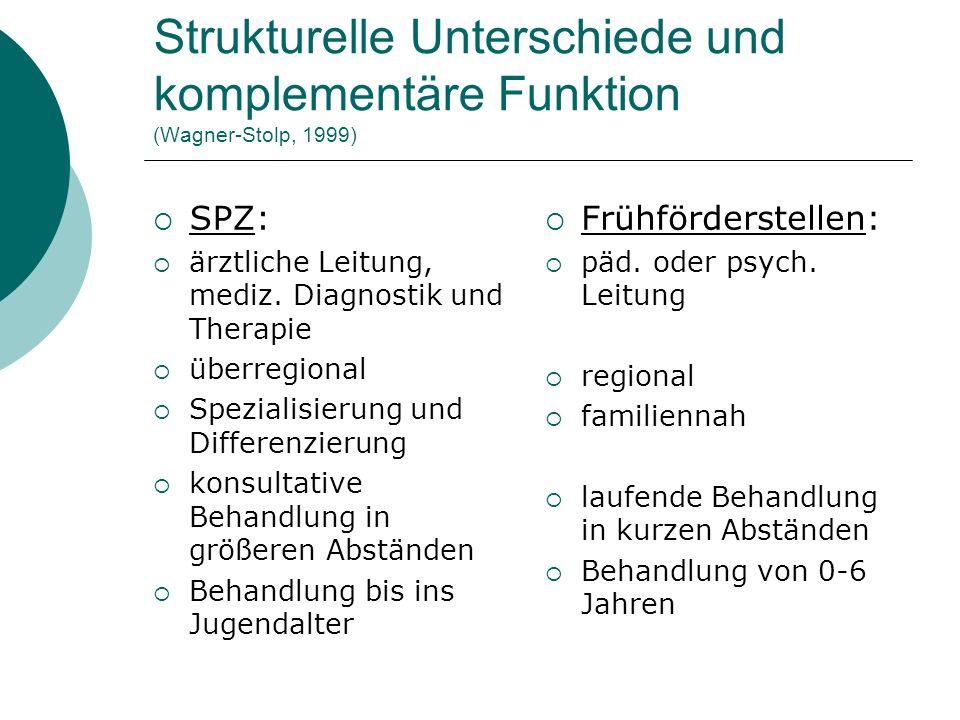 Strukturelle Unterschiede und komplementäre Funktion (Wagner-Stolp, 1999)