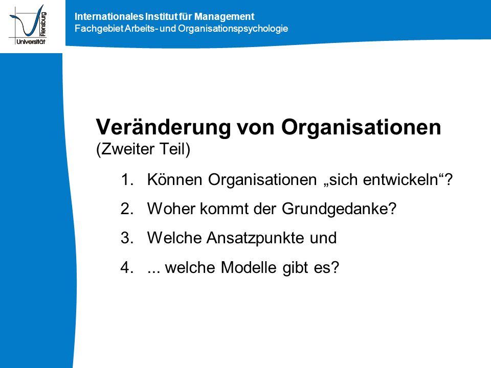 Veränderung von Organisationen