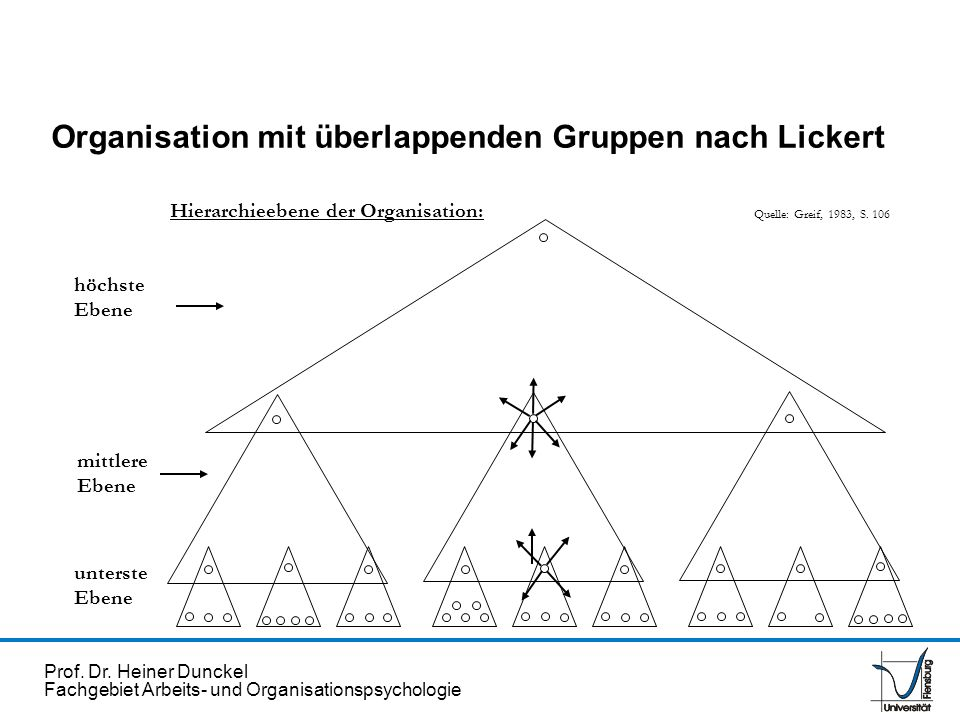 Organisation mit überlappenden Gruppen nach Lickert